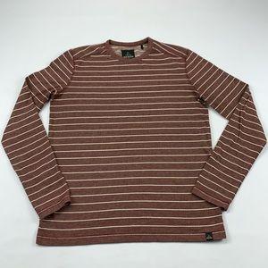 Prana shirt striped thermal long sleeve top